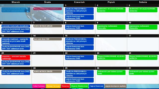 Kalendarz wydarzenia